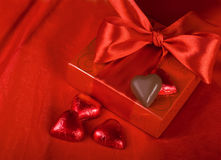 Gift and sweets heart Stock Image