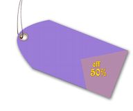 Gift tag. With offer Stock Image