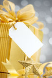 Gift with tag Stock Images