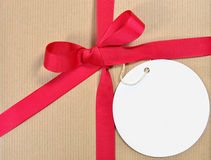 Gift with tag Royalty Free Stock Photography