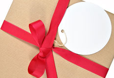 Gift with tag Stock Photo