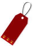 Gift tag. Beautiful gift tag with traditional ornament, isolated Royalty Free Stock Photo