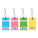 Gift tag bar code Stock Photos