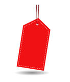 Gift tag. Blank Gift tag isolated on white background royalty free illustration