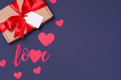 Valentines day romantic seamless blue background, gift tag bow, present,love,hearts,copy text space. Gift tag bow, present,love,hearts,copy text space,Valentines stock images