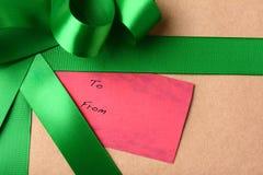 Gift Tag Closeup Stock Image