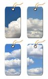 Gift tag with  Clouds Royalty Free Stock Image