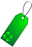 Gift tag Clover Stock Photo
