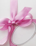 gift tag and ribbon bow Stock Images