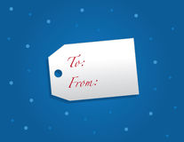 Gift Tag Snow Royalty Free Stock Photos