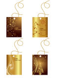 Gift tags. Illustration of different gift tags for christmas presents Royalty Free Stock Photos