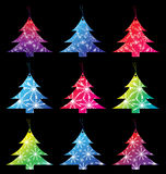Gift tags. Set of Christmas tree gift tags with snowflakes. EPS 10 Royalty Free Stock Photos