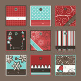 Gift tags. Set of Christmas gift tags, vector file available stock illustration