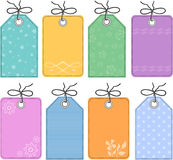 Gift tags. Vector illustration of gift tags used for scrap booking, paper arts or anything else Stock Image