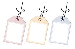 Gift tags Stock Photos
