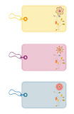 Gift tags. With flowers and leafs Royalty Free Stock Photography