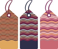 Gift tags. Vector illustration of tags in modern colors Stock Image