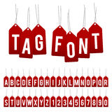 Gift tags alphabet Royalty Free Stock Images