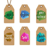 Gift tags design templates. Shopping and sale tags vector collection. Royalty Free Stock Image