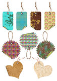 Gift tags of different forms. Stock Photography