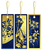 Gift tags with floral design, vector Stock Photography