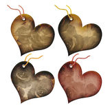 Gift tags in the form of heart. Royalty Free Stock Image
