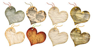 Gift tags in the form of heart. Stock Photography