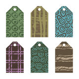 Gift tags with grunge designs Royalty Free Stock Photo