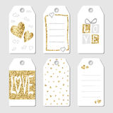 Gift  tags with hearts and love Stock Photo