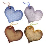Gift Tags In The Form Of Heart. Royalty Free Stock Photos