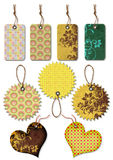 Gift Tags Of Different Forms Stock Images