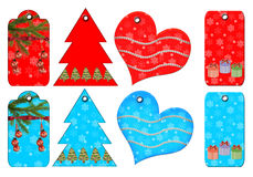 Gift Tags Of Different Forms. Royalty Free Stock Image