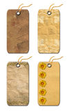 Gift Tags Old-fashioned Stock Photos