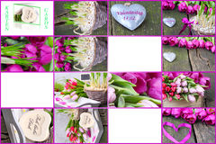 Gift tags for Valentine's Day Royalty Free Stock Photo
