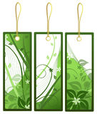 Gift tags, vector. Set of green and white gift tags, vector format Royalty Free Stock Images