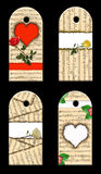 Gift tags whis roses. Royalty Free Stock Photography