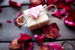 Gift of tenderness Stock Images