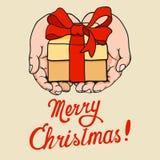Gift ter beschikking op Kerstmis Royalty-vrije Stock Afbeelding