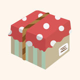 Gift theme flat icon elements background,eps10 Stock Photos