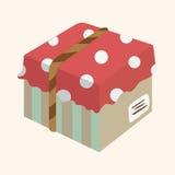 Gift theme flat icon elements background,eps10 Stock Photos