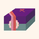 Gift theme flat icon elements background,eps10 Stock Images