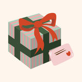 Gift theme flat icon elements background,eps10 Royalty Free Stock Images