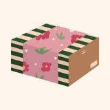 Gift theme flat icon elements background,eps10 Stock Images