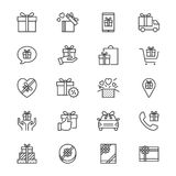 Gift thin icons Royalty Free Stock Photo