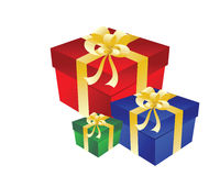Gift three box with bow Stock Photography