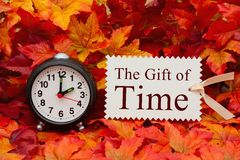 The gift of Time message Stock Images