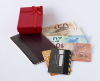 Gift to enter. Gift offered by some financial institutions Stock Images