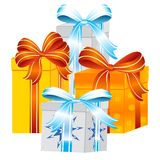 Gift to holiday Stock Images
