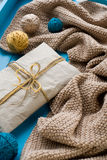 A gift to lie next to the coil bright filaments and blanket Royalty Free Stock Images