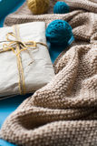 A gift to lie next to the coil bright filaments and blanket Royalty Free Stock Photos
